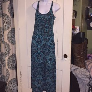 L.A Fresh Aztec Teal and Black Maxi dress